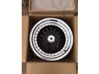 "EMORTAL, BBS RS style brand new Alloy wheels 16"" inch x 9j 4 x 100 5 x 100 alloys wheel black"