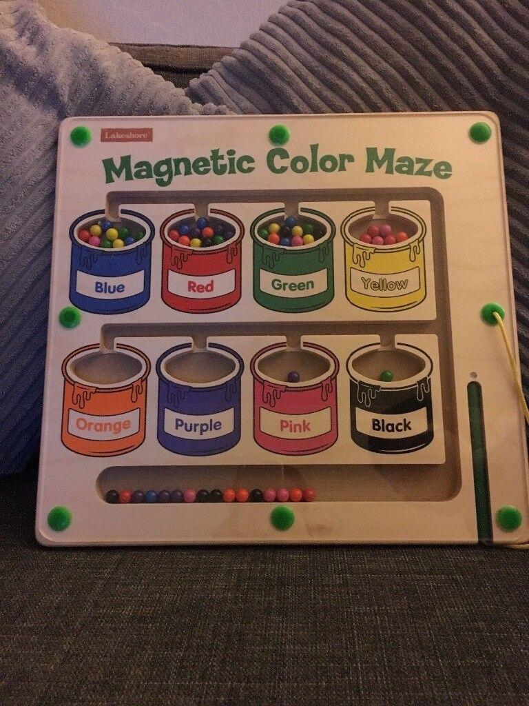 Kids magnetic colour maze
