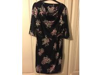 Black Floral Dress from Debenhams size 14