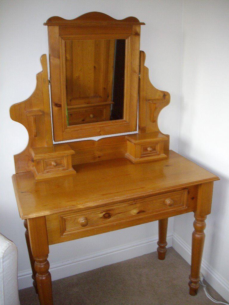 Solid pine dressing table in penwortham lancashire