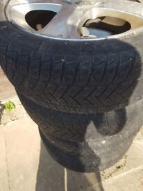 "winter 17 ""tyers set for Peugeot 407.In good condition with cosmetic marks."