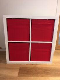 Storage unit - 4 cubes in white
