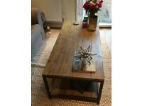 Rectangular Planked Wood Coffee Table