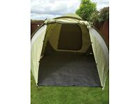 Coleman 5person tent,, with double burner stove and grill.. Comes with camp kitchen