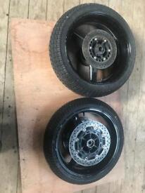 Yamaha r1 wheels disks wets