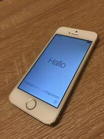 Used iPhone 5s 64gb unlocked white/gold