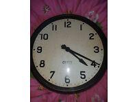 1940s factory clock by gents bakerlite