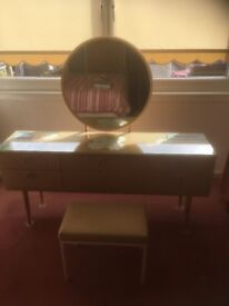 DRESSING TABLE WITH MIRROR AND STOOL