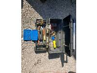 """Stanley 26"""" toolbox with some tools"""