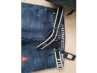 Mens Firetrap Jeans Blue 34 L