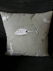 White/Beige Helicopter/Plane Cushion