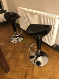 Two modern bar stools for sale