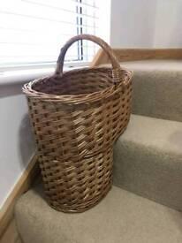 Wicker Stair Basket (New)