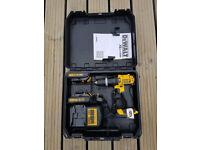 DeWalt Cordless XR DCD 765 Combi Drill Kit, 2 x 1.5Ah Li-ion XR batteries, DCB 105 Charger, Kit box