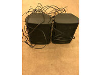 2x Toshiba Speakers With Cable In Good Condition