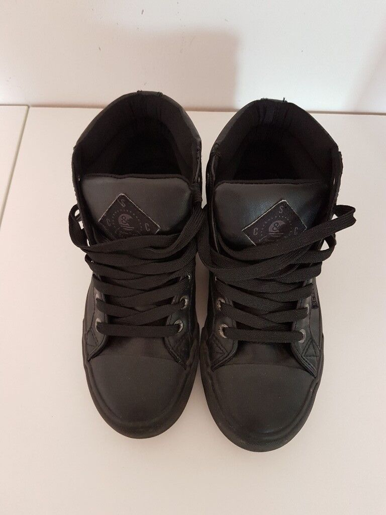 b31ccdb3258 For Sale - SC CO black leather shoes
