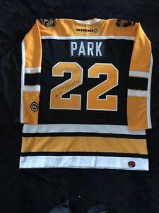 Brad Park Signed Boston Bruins Jersey
