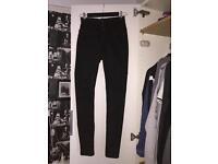 Black high waisted jeans