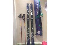 Elan A06 Fusion (All-Mountain All-Rounder 2005/2006) Skis and Gabel Alto poles with Dynastar bag