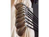 NIKE PRO COMBO FORGED IRON SET, 3,4,5,6,7,8,9 AND PW, GRAPHITE SHAFTS