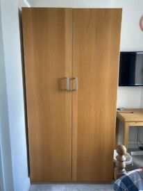 Double Ikea Wood Wardrobe