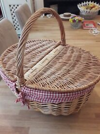 Rattan Picnic Basket - new, never used