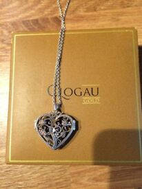 Genuine Clogau key to my heart silver/gold pendant.