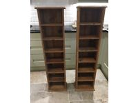 Pair of Pine display/CD cabinets
