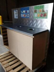 Recycling Stations - Stainless Steel Top & Back - Only $249!