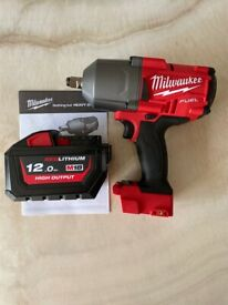 Milwaukee M18FHIWF12-0 FUEL Gen2 1/2 inch Impact Wrench & 12Ah Battery