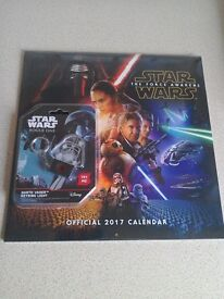 Star Wars The Force Awakens 2017 Calendar and Star wars Rogue one Darth Vader Keyring Light