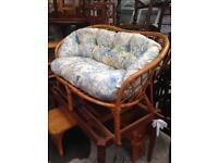 Bamboo wood sofa