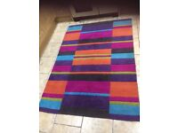 Multiple colours rug 120 by 170