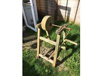 Garden tool grinding wheel