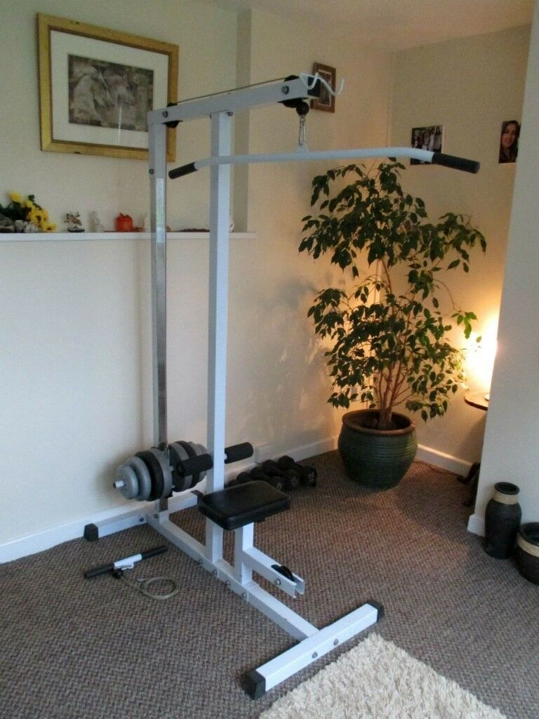 Home multi gym lat pulldown workstation fitness work out