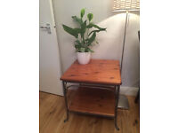 Beautiful solid wood and iron side table by ducal
