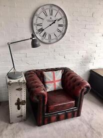 Slipper club Queen Anne & wingback Chesterfield armchairs available. Can deliver