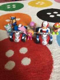 Paw patrol collection of pups and vehicles
