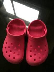 Genuine Crocs (pink size C8)