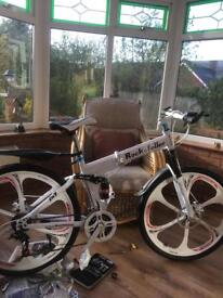 Mountain bike, 26'' frame, 18 speed, front & rear disc brakes, ridden once.