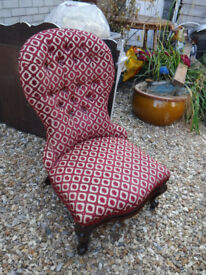 Lovely Victorian button back chair