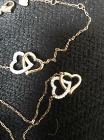 Swarovski Heart Match Set For Sale