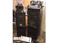 Job lot of dj'ing equipment