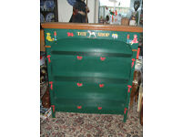 HAND PAINTED CHILDS BOOKCASE - BEAUTIFULLY DECORATED
