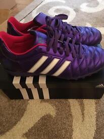 Ladies purple football boots