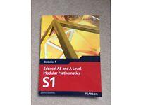 Edexcel S1 A-level maths book