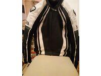 Frank Thomas XTi XT1 Leather Motorcycle Jacket Size 40 UK 50 Euro White