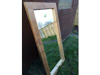 Rustic Hand crafted Mirror (Large)