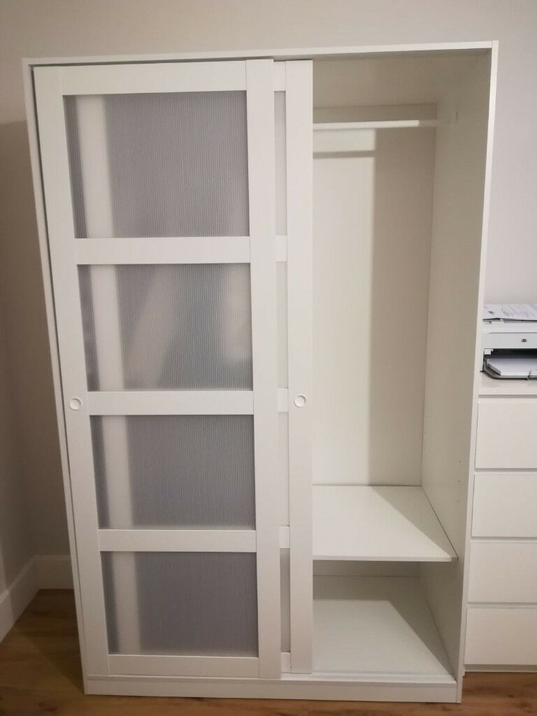 Kvikne Wardrobe With 2 Sliding Doors White In Bromley