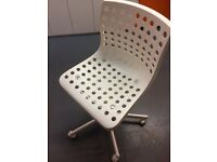 Ikea white swivel chair